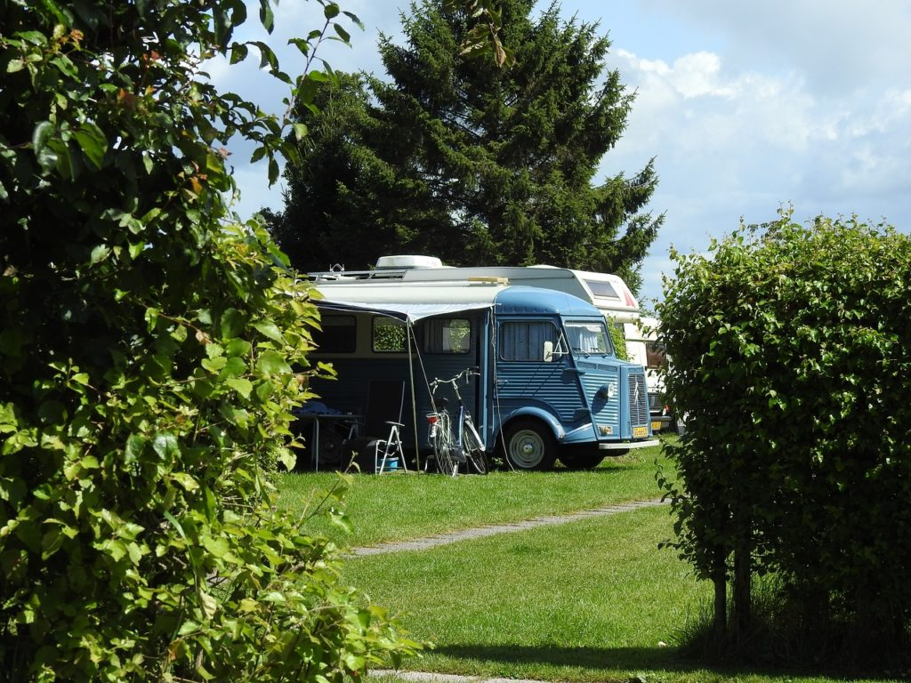 van vintage, holiday, camping